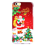 Santa Claus UV Varnish PC Material Christmas Phone Case for iPhone 6 /6S