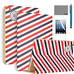 LEXY® Voyager Pattern PU Leather Flip Stand Case with Screen Protector and Stylus for iPad Air/iPad 5