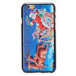 Christmas Style Santa in Sky Pattern PC Hard Back Cover for iPhone 6