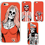 MAYCARI® Skulls Being Crazy Transparent Soft TPU Back Case for iPhone 6/iphone 6S(Assorted Color)