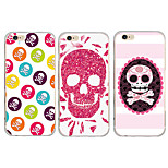 MAYCARI® Skull Smiling Transparent TPU Back Case for iPhone 6/iphone 6S(Assorted Colors)
