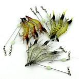 10pcs/ 30pcs Fishing Lures 90mm/7g Luminous Shrimp Soft Bait with Hook Random Color