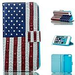 Nationalflagge Entwurf PU-Ganzkörper-Fall mit Stand mit Einbauschlitz für iPhone 5 / 5s