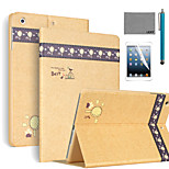 LEXY® Banyan Pattern PU Leather Flip Stand Case with Screen Protector and Stylus for iPad Mini 1/2/3