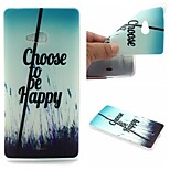 Choose To Be Happy Words Phrase Pattern 0.6mm Ultra-Thin Soft Case for Lumia N540