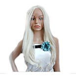 Cheap price White Cosplay Long Wave Sythetic Wigs