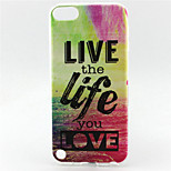 Live The Life Love Painting Pattern TPU Soft Case for iPod Touch 5