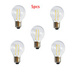 5pcs HRY® A60 2W E27 250LM 360 Degree Warm/Cool White Color Edison Filament Light LED Filament Lamp (AC85-265V)