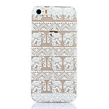 White Elephant Pattern PC Material Phone Case for iPhone 5C