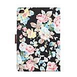 tablet pc flor tirón de la carpeta floral cubierta de la caja con el soporte bolso de la tarjeta soporte para Ipad Air (colores assored)