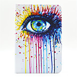 Eye Pattern PU Leather Full Body Case with Stand and Card Slot for iPad Mini 4
