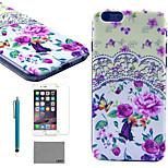 LEXY® Garden Tribe Pattern Hard PC Back Case with 9H Glass Screen Protector and Stylus for iPhone 5/5S