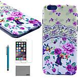 lexy® modello giardino tribù duro del pc di caso con la protezione dello schermo in vetro 9h e lo stilo per iPhone 5 / 5s