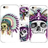 MAYCARI® Skull Chiefs Transparent TPU Back Case for iPhone 6/iphone 6S(Assorted Colors)