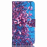 Tree Flowers Pattern PU Leather Full Body Case with Card Slot and Stand for iPhone 6 Plus/iPhone 6S Plus