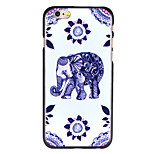 Purple Flower Elephant Pattern PC Back Cover for iPhone 6