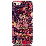 Floral Pattern Blu-Ray TPU Material Phone Case for iPhone 5 /5S