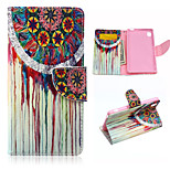Wind Chimes Pattern PU Leather Case Cover with Stand and Card Holder for Sony Xperia M4