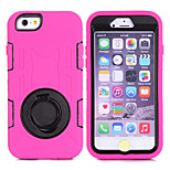 Heavy Duty Rugged Hybrid Shockproof Kickstand TPU+PC Cover Hard Protective Case for Apple iPhone 6/6S (Assorted Color)