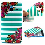 Striped Flower Words Phrase Pattern 0.6mm Ultra-Thin Soft Case for TPU Lumia N640XL