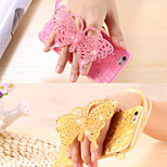 Luminous Stand Rhinestone Butterfly Soft TPU Case Cover for iPhone 5/5S(Assorted Colors)