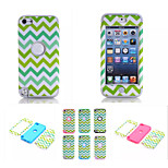 Wave Pattern Pattern High Quality Snap-on PC + Silicone Hybrid Combo Armor Case Cover for iPod touch 5(Assorted Color)
