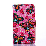 Butterfly Pattern PU Leather Full Body Case with Stand for Multiple Sony E4/M4