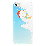 Christmas Style Fat Snowman Pattern Transparent PC Back Cover for iPhone 5/5S
