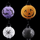 4PCS Fun Halloween Pumpkin LED Paper Bar Lantern Home Decorations Paper lanterns