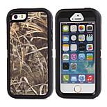 Zweig camouflage stoßfesten Fall w / build-in-Schutzfolie für iPhone 5 / 5s-Plastik + TPU Cover mit