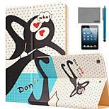 LEXY® Don't forget me Pattern PU Leather Flip Stand Case with Screen Protector and Stylus for iPad Mini 4