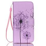 Dandelion Pattern PU Material Card Lanyard Case for iPhone 6 Plus/6S Plus