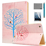 LEXY® Wishing Tree Pattern PU Leather Flip Stand Case with Screen Protector and Stylus for iPad Air/iPad 5