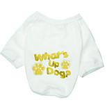 Dog T-Shirt / T-Shirt Single color/ Summer  Floral / Foot Pattern Fashion