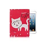animales grupo feliz con soporte del caso de cuero de la PU para mini ipad 1/2/3 (colores surtidos)