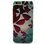 Leaf Painting Pattern TPU Soft Case for iPhone 6/6S
