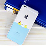 Little Duck Partner Pattern TPU Material Soft Phone Case for iPhone 6/6S