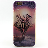 Deer Painting Pattern TPU Soft Case for iPhone 6/6S