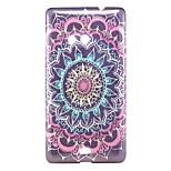Black Flower Pattern Glitter Powder TPU Soft Back Cover for Nokia N535