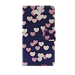 Printed Colorful Heart PU Leather Wallet Full Body Case with Stand for Huawei G8