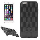 Hat-Prince 0.26mm 9H 2.5D Tempered Glass Protector + Weave Pattern Protective TPU Case with Stand for iPhone 6 / 6S