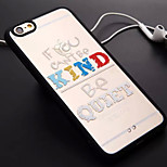 Letter Pattern TPU and PC Material Combo Phone Case for iPhone 6/6S