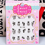 4PCS Flower  Butterfly Nail Stickers Random Color