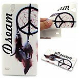 Dream Catcher Words Phrase Pattern 0.6mm Ultra-Thin Soft TPU Case for Sony Xperia C4Lite