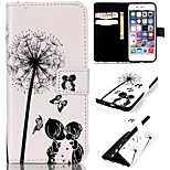 Childhood Sweethearts Pattern Relief  PU Leather Wallet Case with Stand and Card Holder for iphone 6plus/6Splus