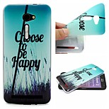 Choose To Be Happy Words Phrase Pattern 0.6mm Ultra-Thin Soft TPU Case for Zenfone2 5.0