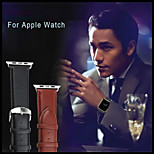 Luxury Real Leather Watchband for Apple watch 38 / 42mm with no Band Adapter Connector(various colors)