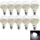 youoklight® 10PCS E27 9W 15*SMD5630 700LM 6000K Cool White Light LED Globe Bulbs (AC220V)