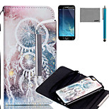 LEXY® Split Type Star Campanula Pattern PU Full Body Leather Case with Screen Protector and Stylus for iPhone 6/6S Plus