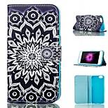 dom tarjeta de patrón de flores de pie de la PU cubierta de la caja de cuero para el iphone 6 / 6s